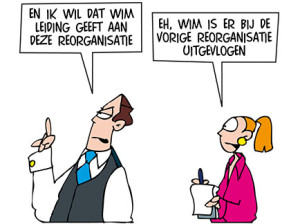 cartoon reorganisatie 2